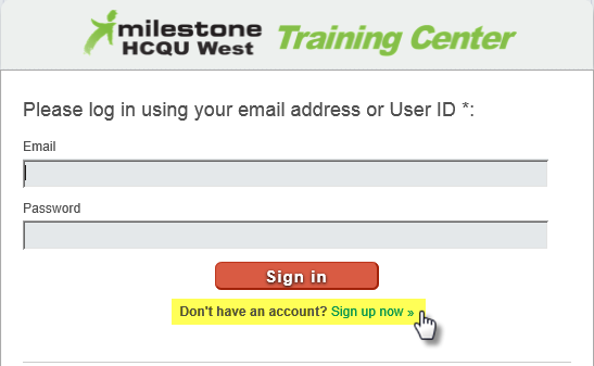 sign-in screen