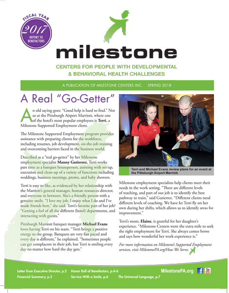 Milestone Centers, Inc  | Centers for People with